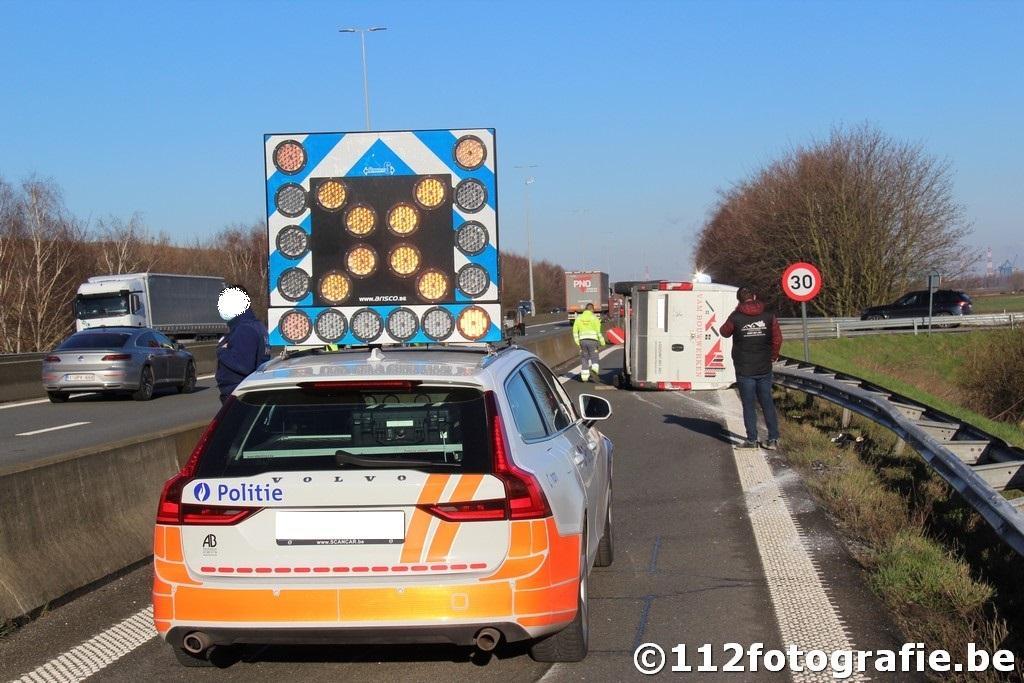 verkeersongeval op afrit