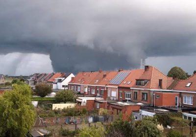 Storm en windhoos te Kapellen en omgeving